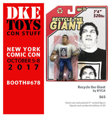 "New York Comic Con 2017 Exclusive WWE ""Recycle the Giant"" Andre the Giant Bootleg Resin Figures by RYCA x DKE Toys"