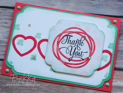 Memories in the Making Thank You Card with Hearts