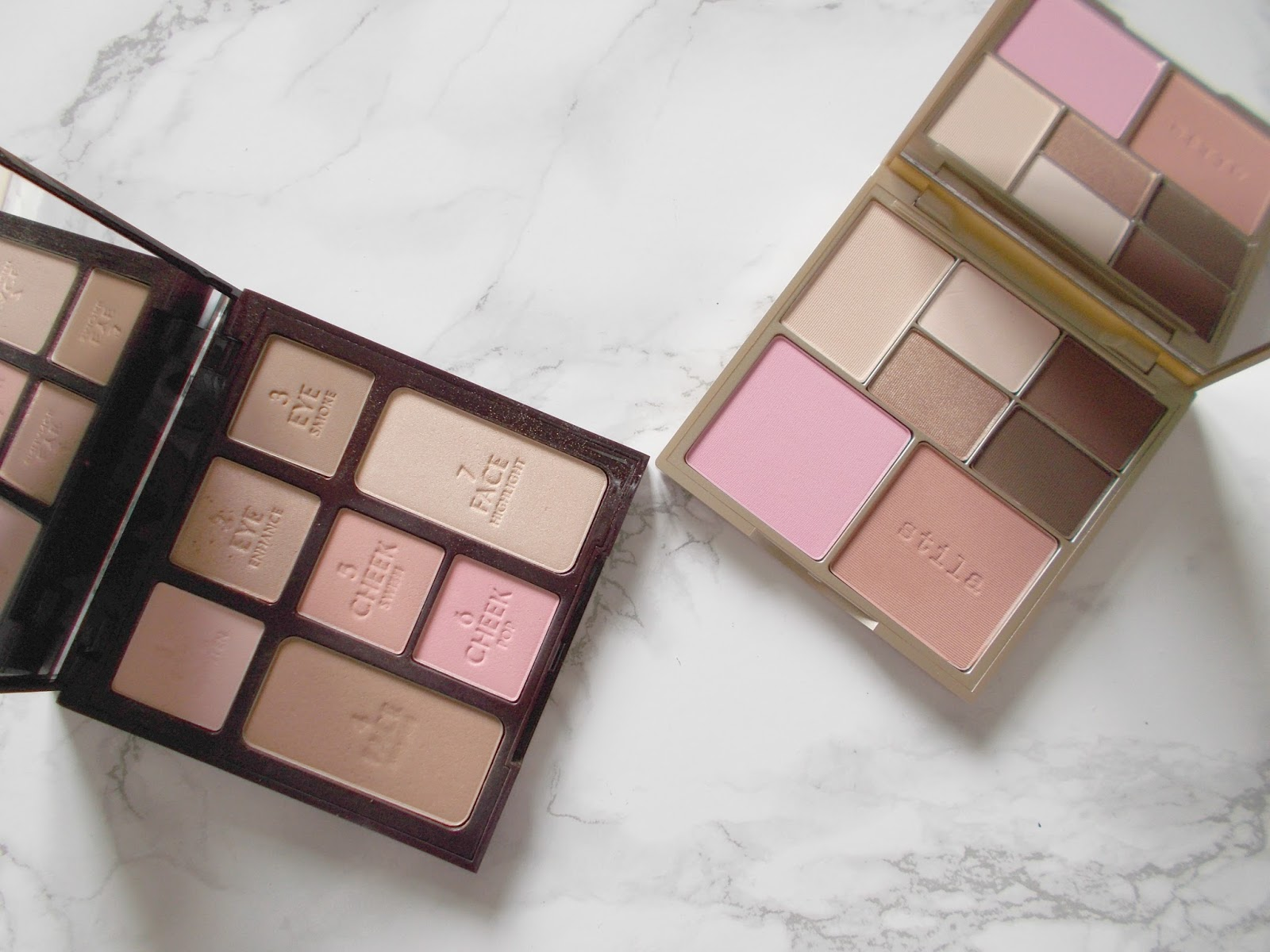 Charlotte Tilbury Instant Look in a Palette Stila Perfect Me Perfect Hue Light Medium review