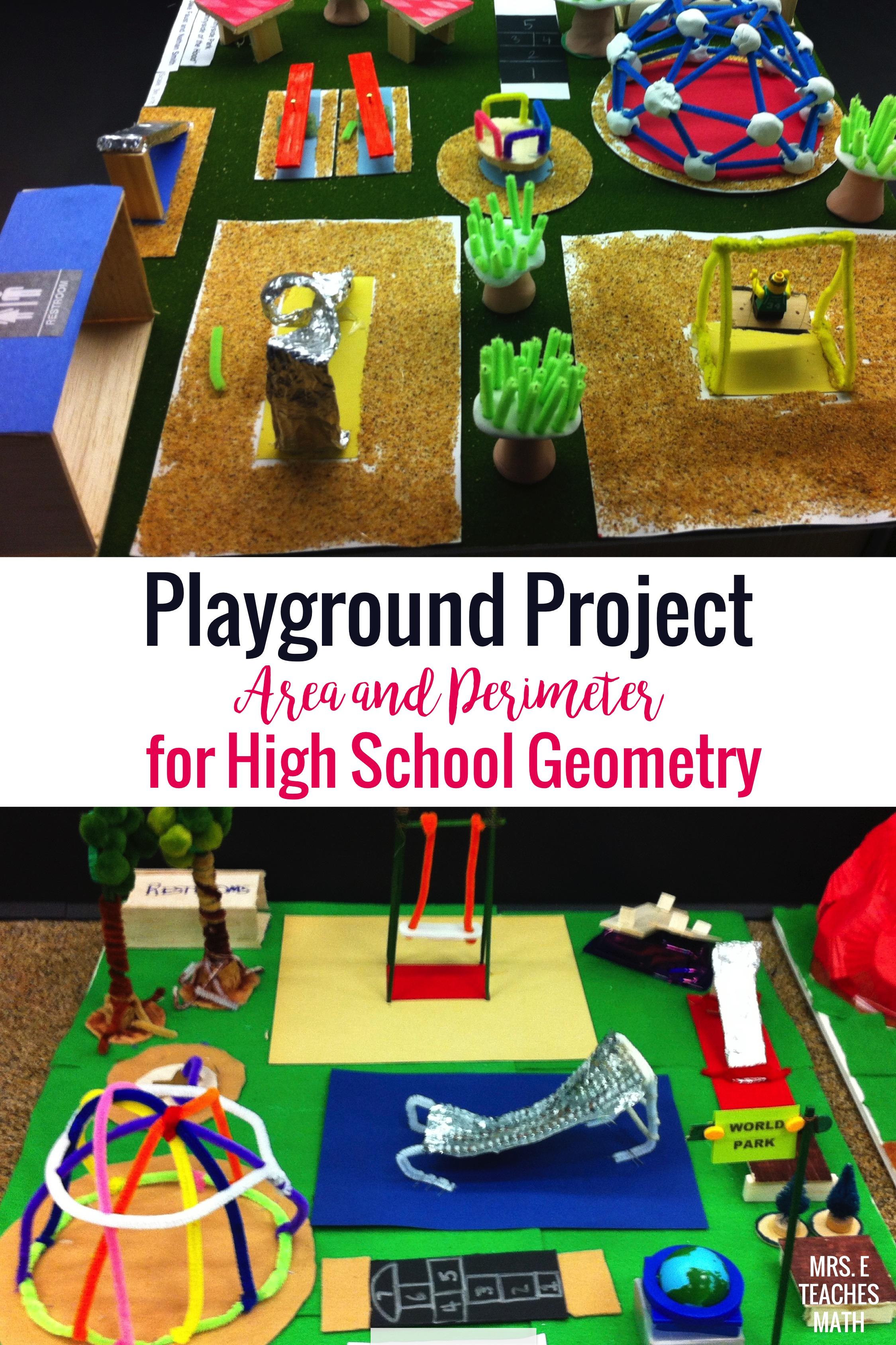 Playground Project   Mrs. E Teaches Math