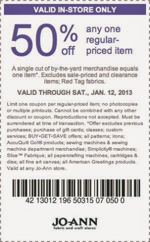 Joann Craft Stores Coupons