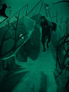 Veidt y Dagover en Caligari.