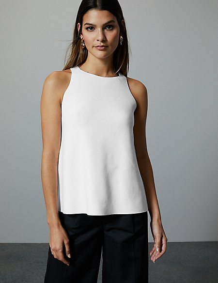 marks and spencer ribbed knitted top