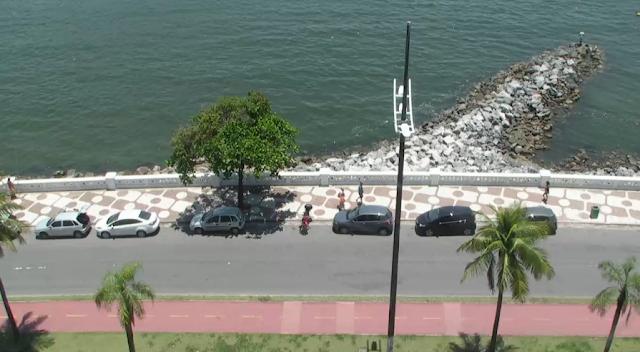 câmera ao vivo da praia de santos