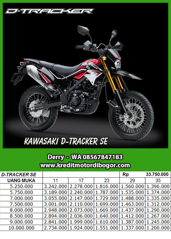 Daftar Kredit Kawasaki D Tracker 150 SE di Bogor