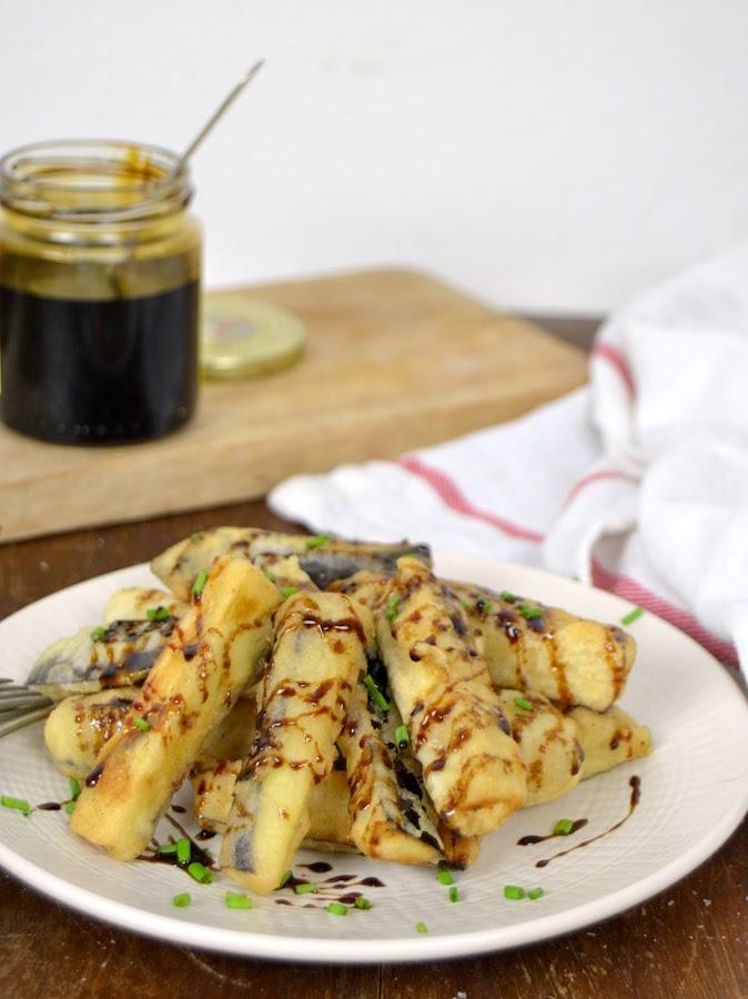 Berenjena frita con miel
