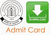 CBSE 12th Admit Card 2017