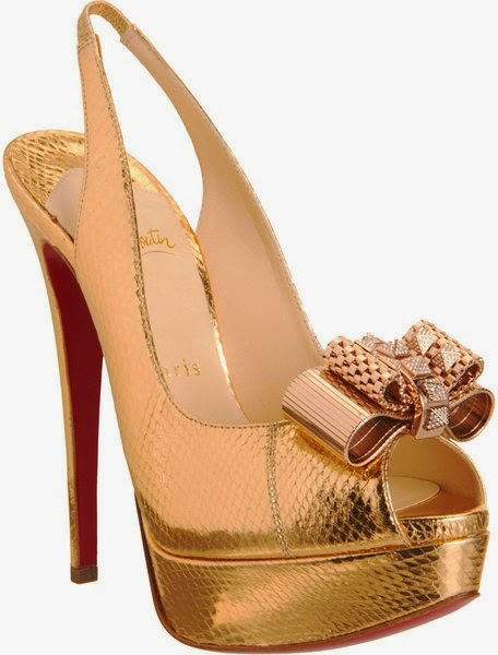 Womens Expensive Shoes With Bow And Gold