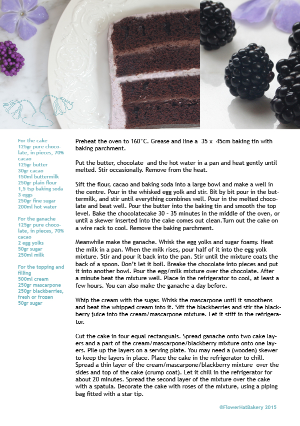 blackberry chocolatecake recipe flowerhatbakery