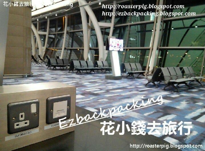 香港機場候機室環境