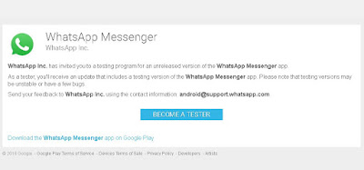 Whatsapp beta tester-How to become Whatsapp beta tester