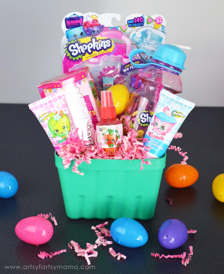 Shopkins Easter Basket at artsyfartsymama.com