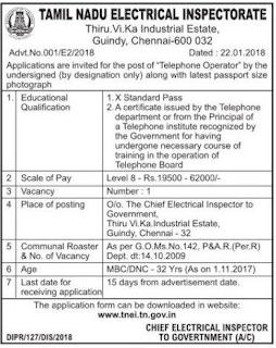 (TNEI) Recruitment 2018
