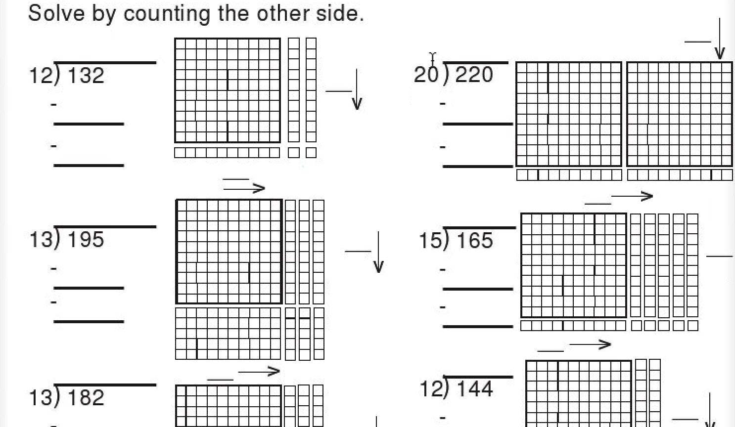 Crewton Ramone's Blog of Math: Base Ten Block Division Worksheets [ 864 x 1486 Pixel ]
