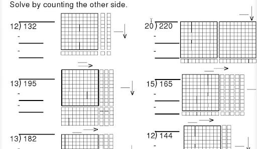 Worksheet #: Division with Base Ten Blocks Worksheets – Base Ten ...