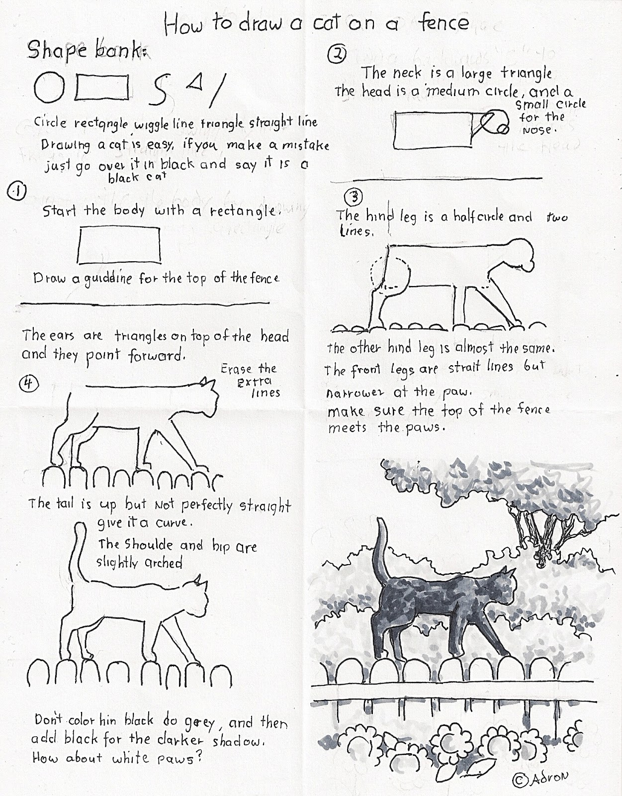 worksheet Draw The Other Half Of The Picture Worksheet how to draw worksheets for the young artist a black cat worksheet c adron 2011