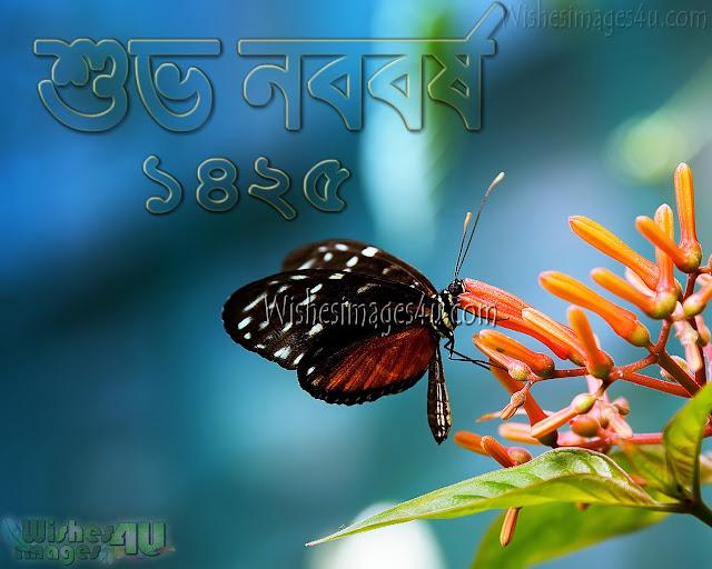 বাংলা শুভ নববর্ষ 1425 Greetings