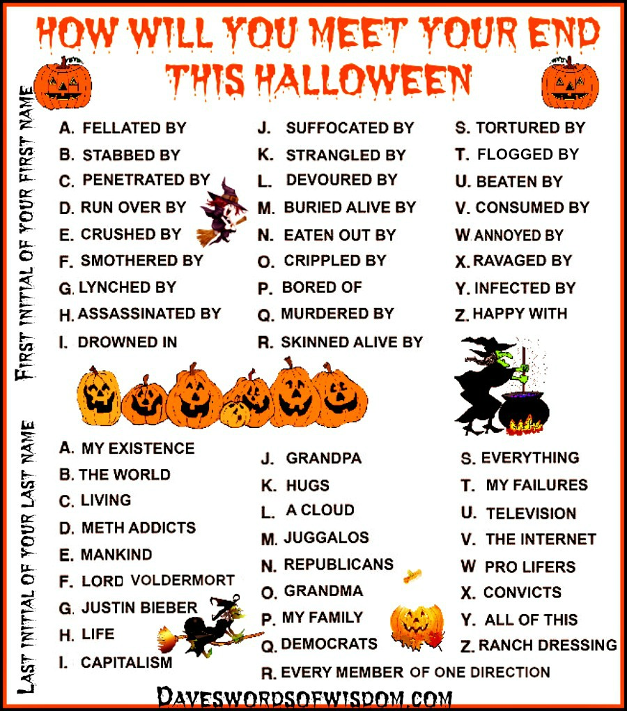 Who will you be on this Halloween