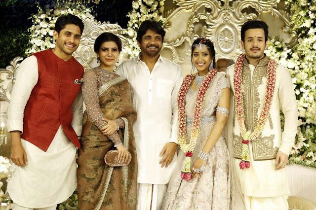 naga chaitanya samantha at akhil engagement pics