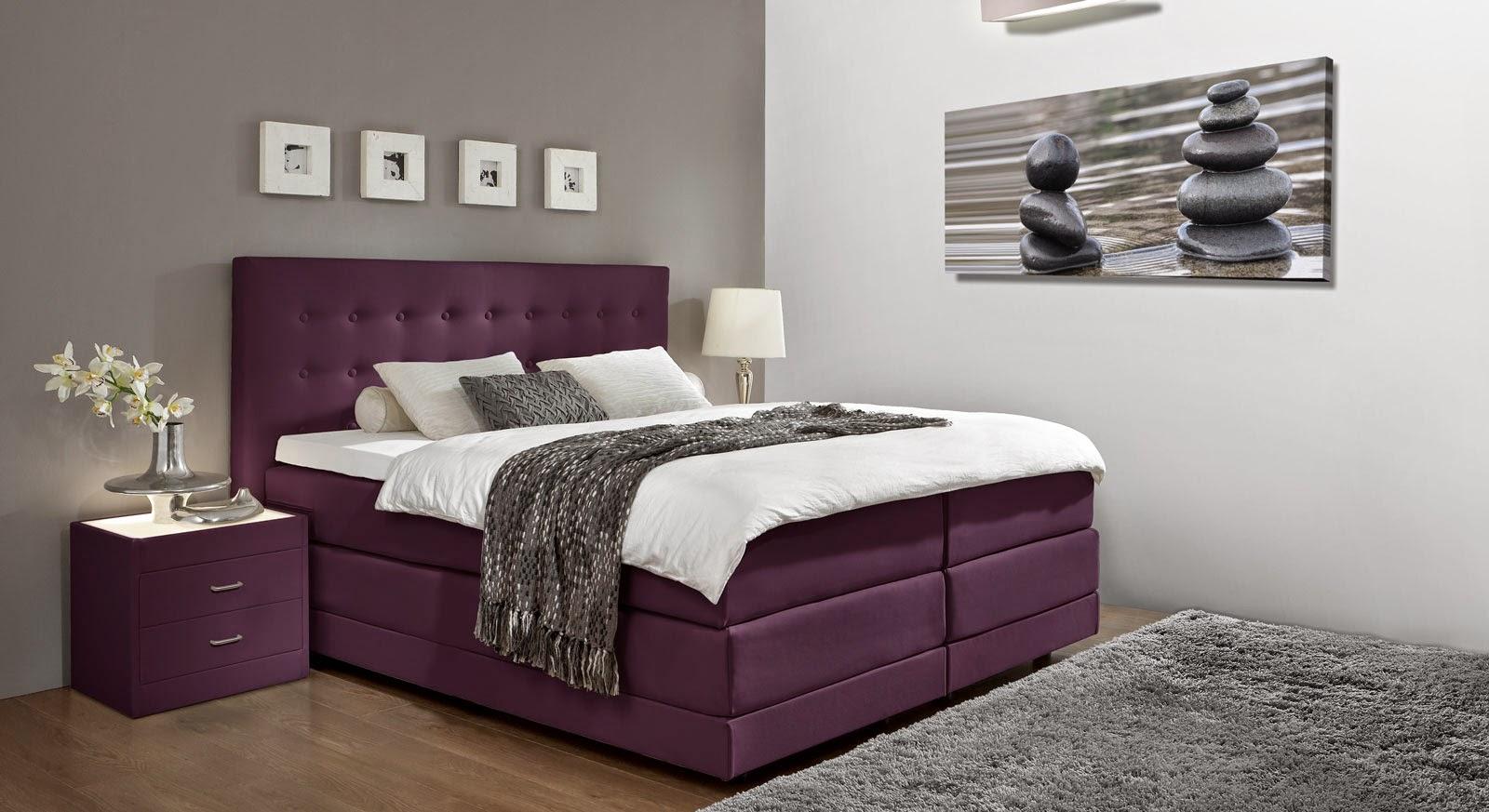 Habitaciones en violeta y gris plata dormitorios colores for Cuarto negro con gris