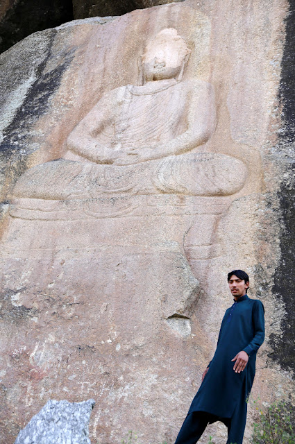 Buddha carving partially destroyed by militants restored in Pakistan