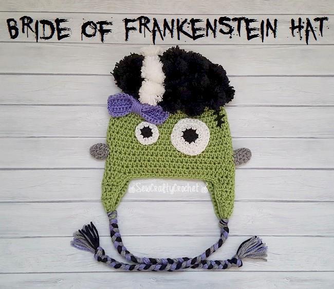 Crochet Bride of Frankenstein Hat - Sew Crafty Crochet