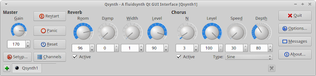 Random Thoughts: Simple Graphical Interface for FluidSynth