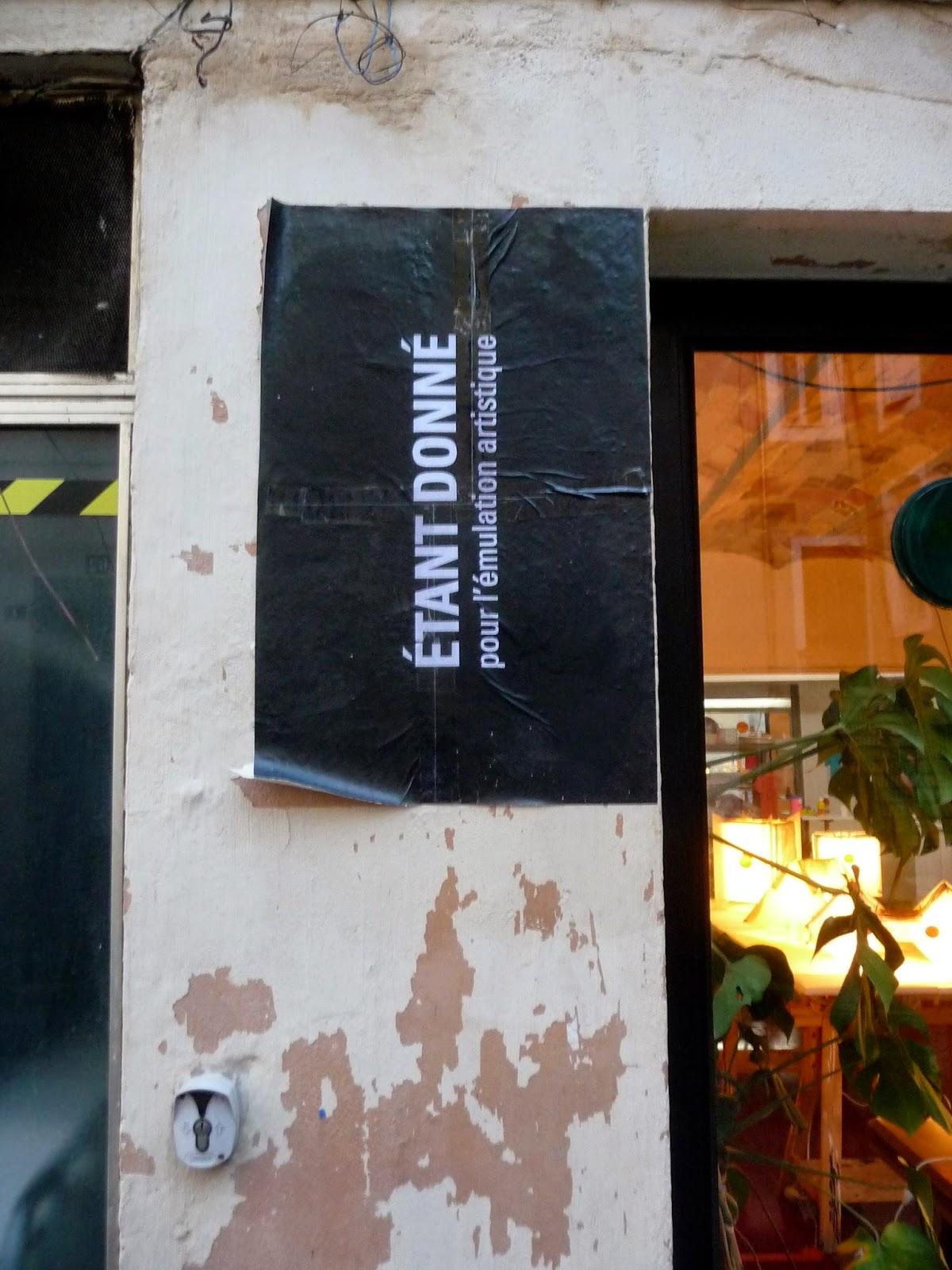 Atelier et Galerie Etant Donné, 7 rue du Courtieu, Nîmes