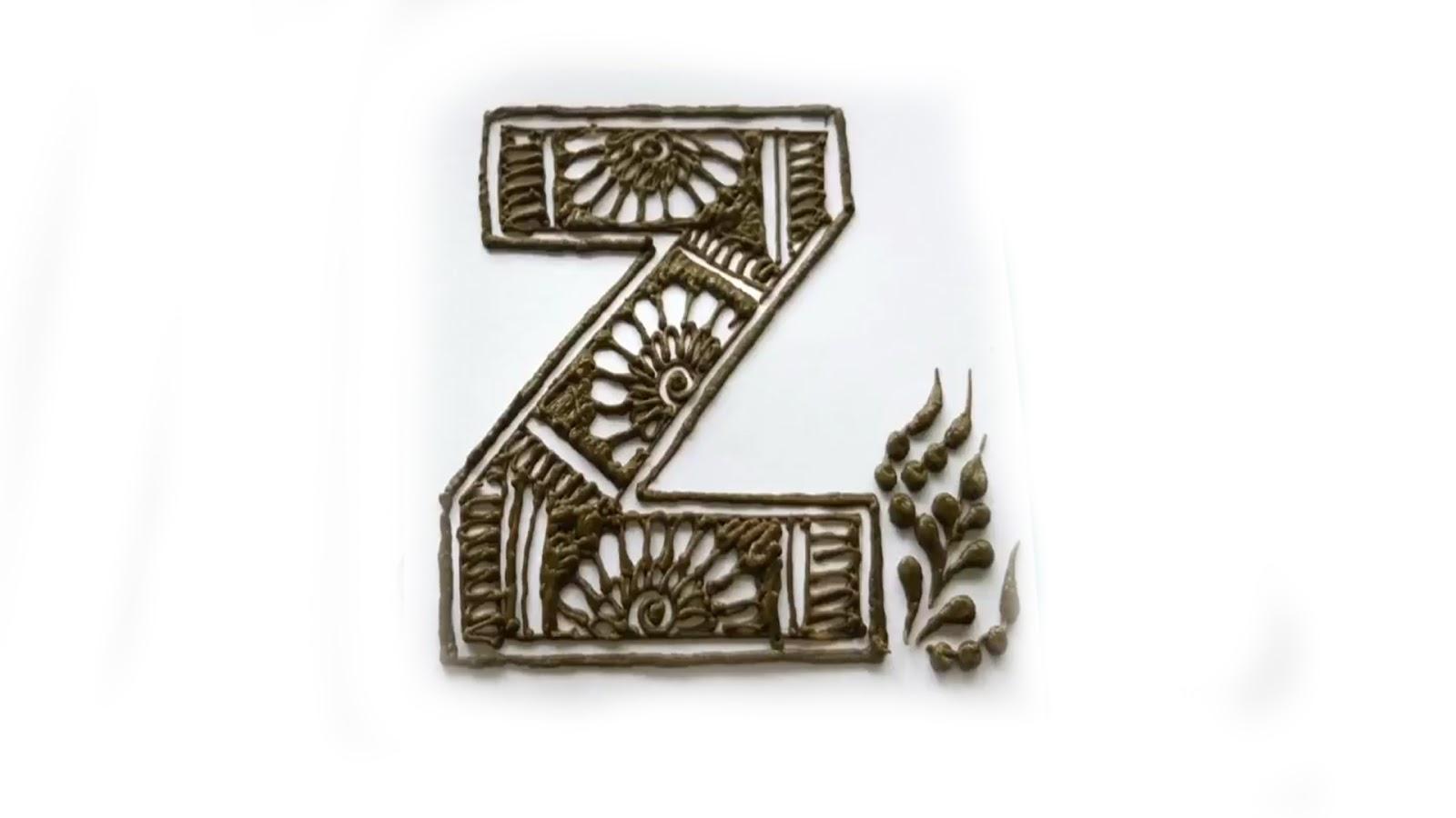 Popular Alphabets Mehndi Designs latest images , Fancy