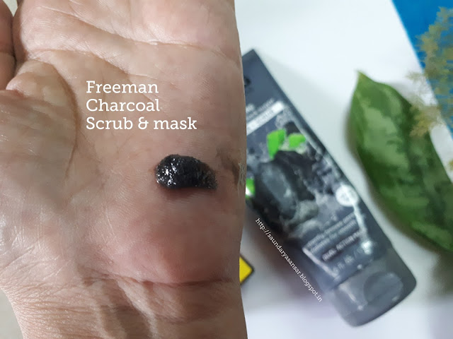 Freeman Feeling Beautiful Polishing Charcoal + Black Sugar Gel mask and Scrub: Swatch