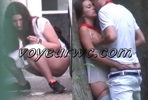 City Park Lovers - Public Voyeur Sex. Spy cam couple fuck in the bushes. (The Galician Day 23-24)