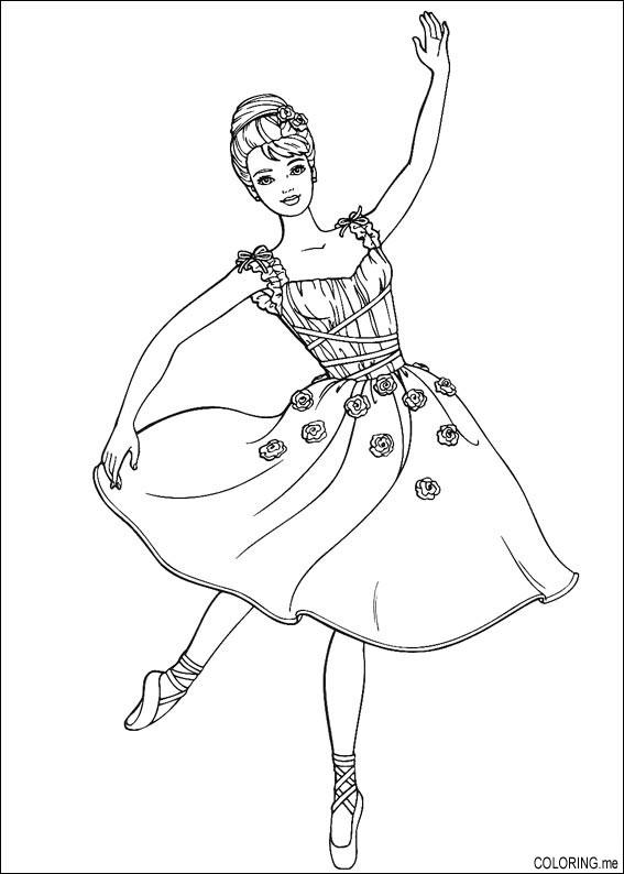 Dancing Princess coloring page | Free Printable Coloring Pages | 794x567