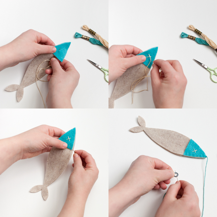 step by step instructions create your own diy floss stitching felt fish game