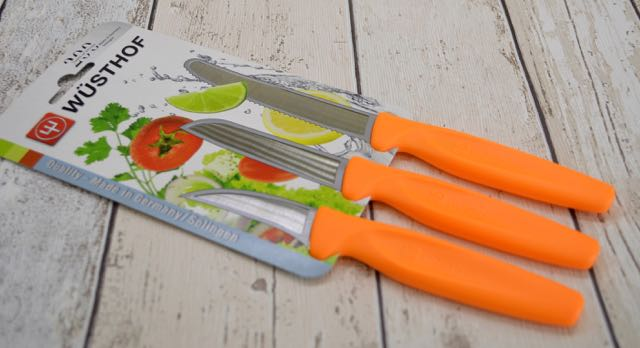 3pc Wustof Coloured Paring Knives Set