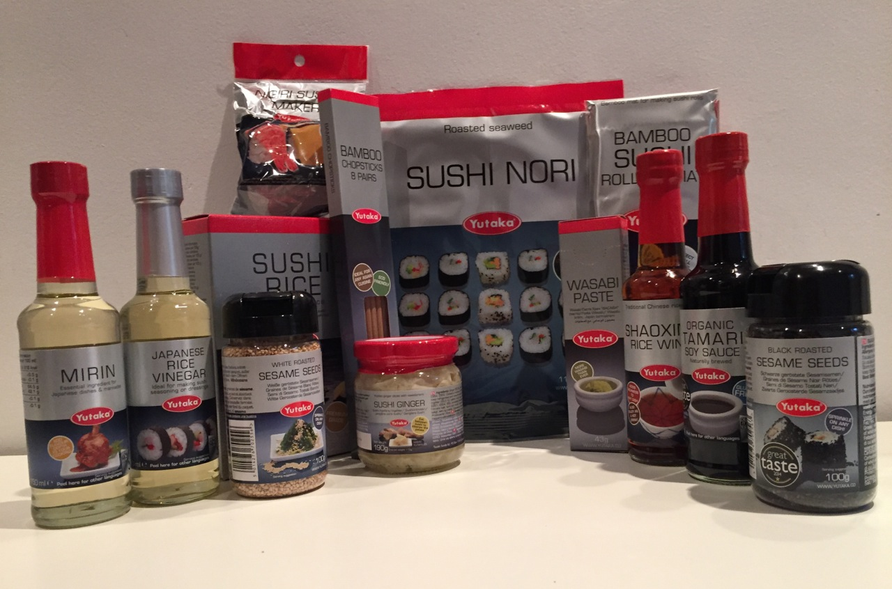 Sushi Making With Kids - A Tutorial for Beginners with Yutaka - ingredients