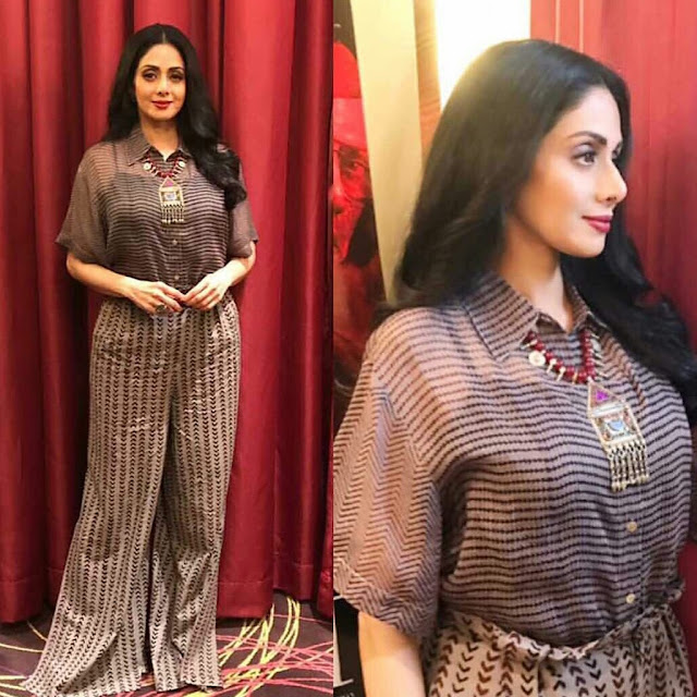 Sridevi's Mom Movie Promotion Style and dresses