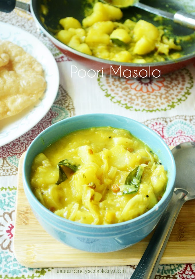 Poori Masala - Potato masala for Poori