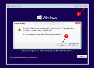 Windows Setup.