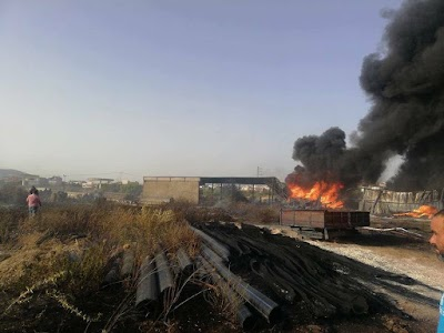 بنزرت حريق بمستودع مصالح التنمية الفلاحية بماطر
