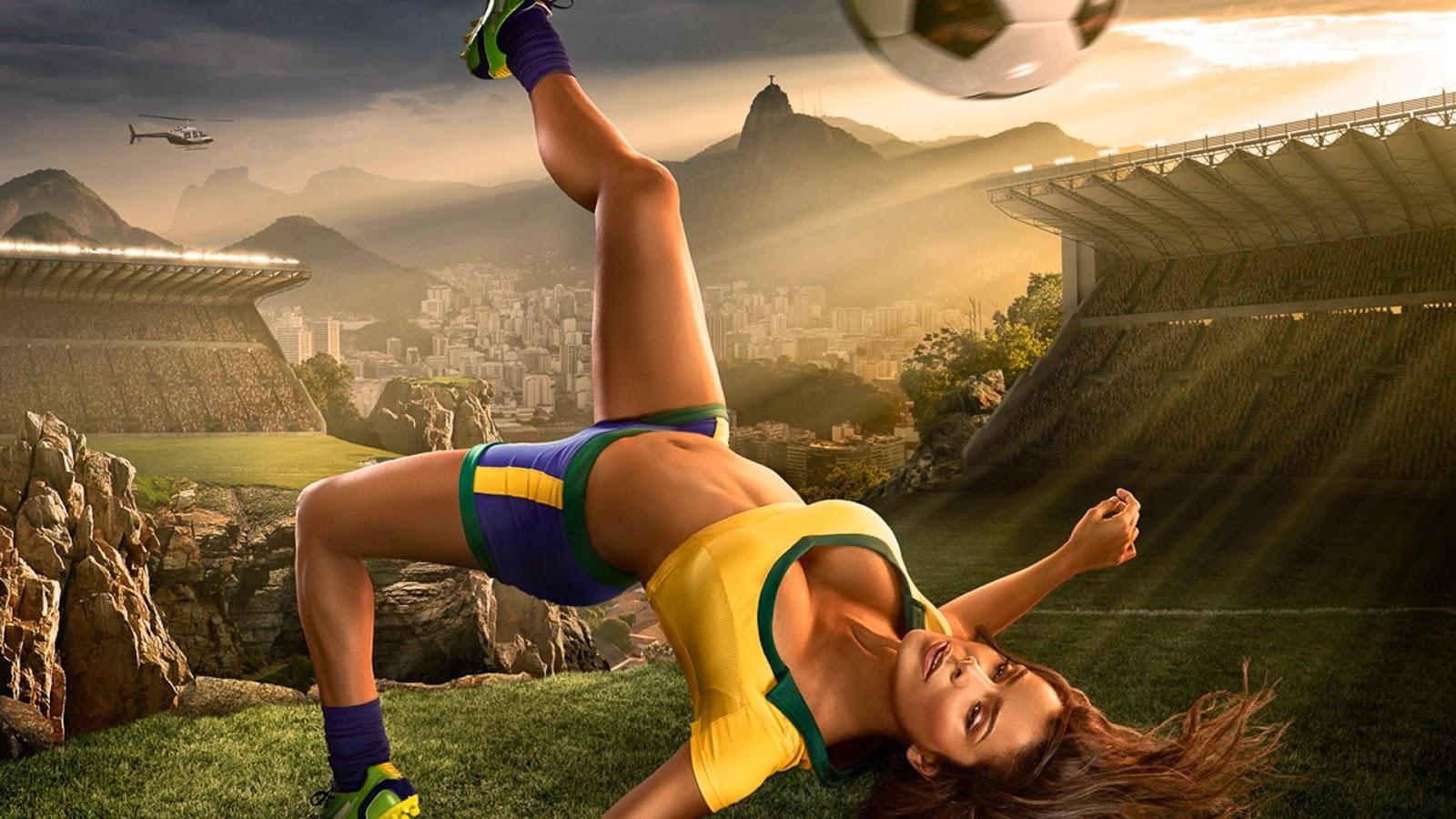 Brazil World Cup 2014 Football Baby Sexy Wallpaper - Hd -1515