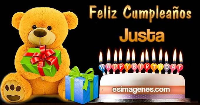 Feliz cumpleaños Justa