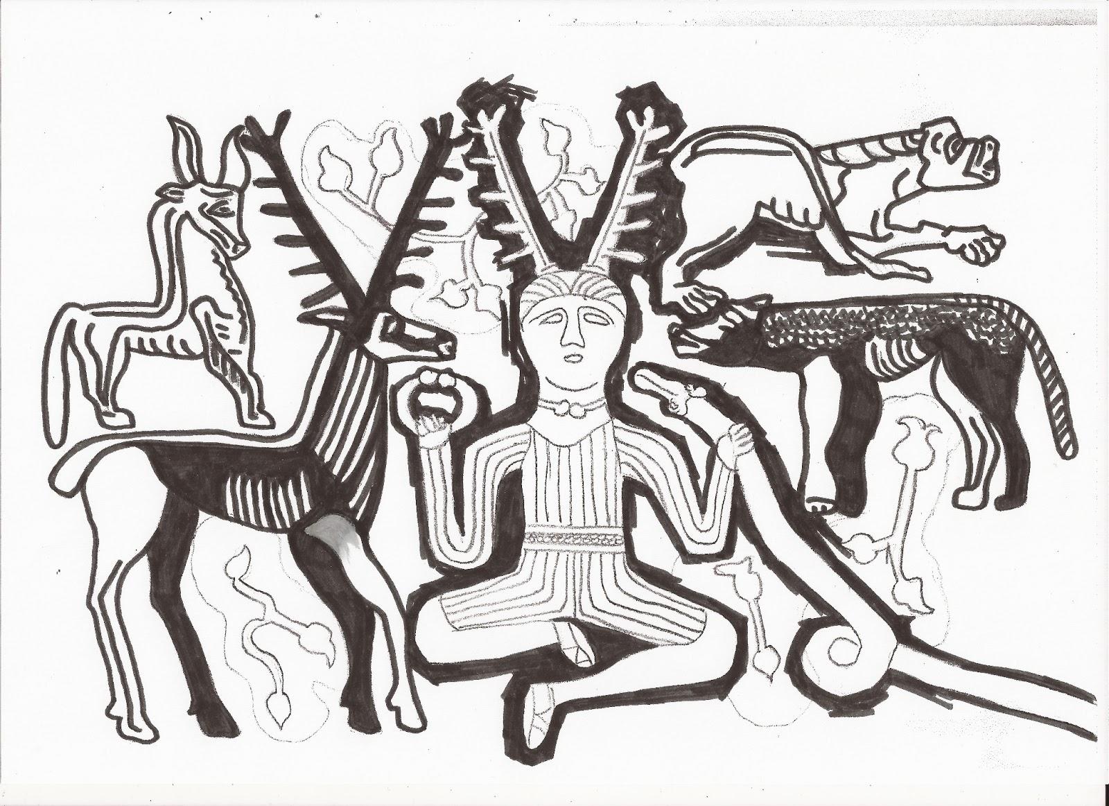 Imogen Smid's Final Illustration Exam Blog: Cernunnos