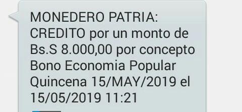 Cumpliendo con los trabajadores independientes el gobierno Bolivariano hizo el pago del bono economía popular quincena 15 de MAY/2019