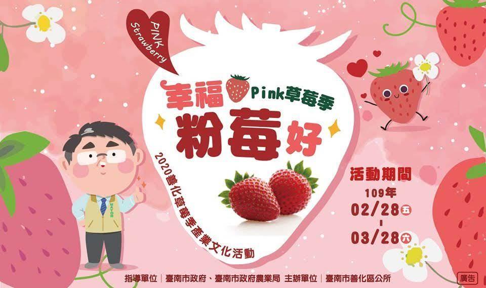 [活動] 2020善化草莓季|幸福粉莓好~Pink草莓季