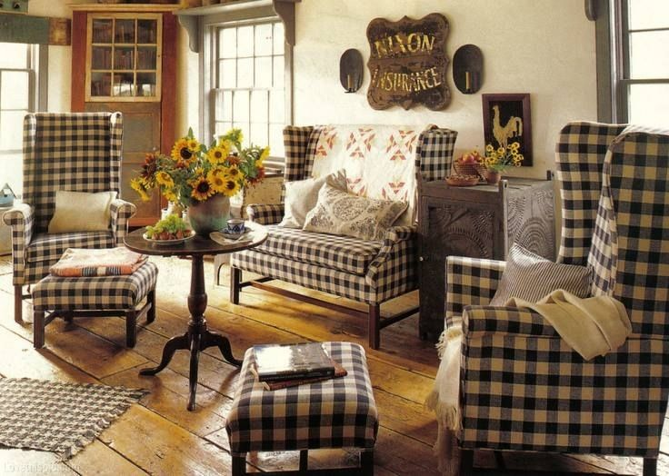 country plaid living room furniture | Best Furniture ...