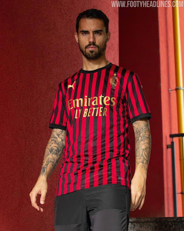 Classy AC Milan 120th Anniversary Kit Collection Released ...