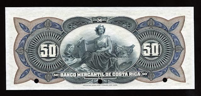 Costa Rica 50 Colones Banknote