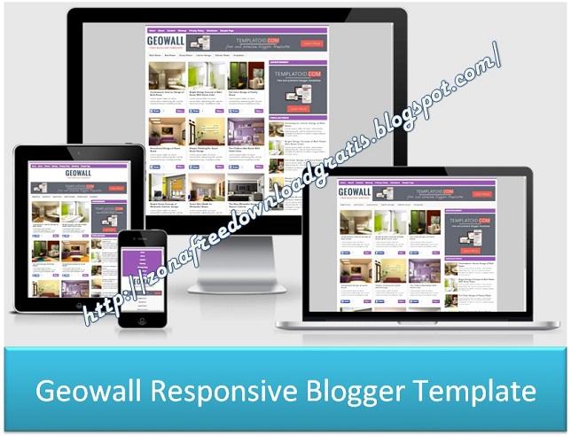 Geowall Responsive Blogger Template