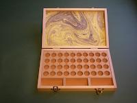 Caja de tipos de Aldo grabados