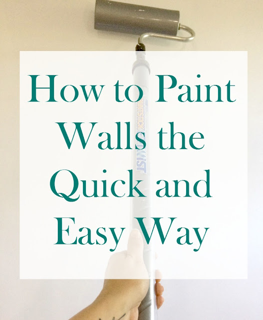 Today I am sharing my secret tool that helped me paint my walls the quick and easy way!